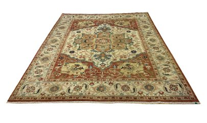 Persian serapi m255  style rug wool pile vintage hand