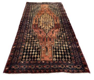 Persian serapi design style rug wool pile vintage