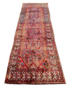 Persian Shiraz 4487 rug wool pile vintage hand knotted