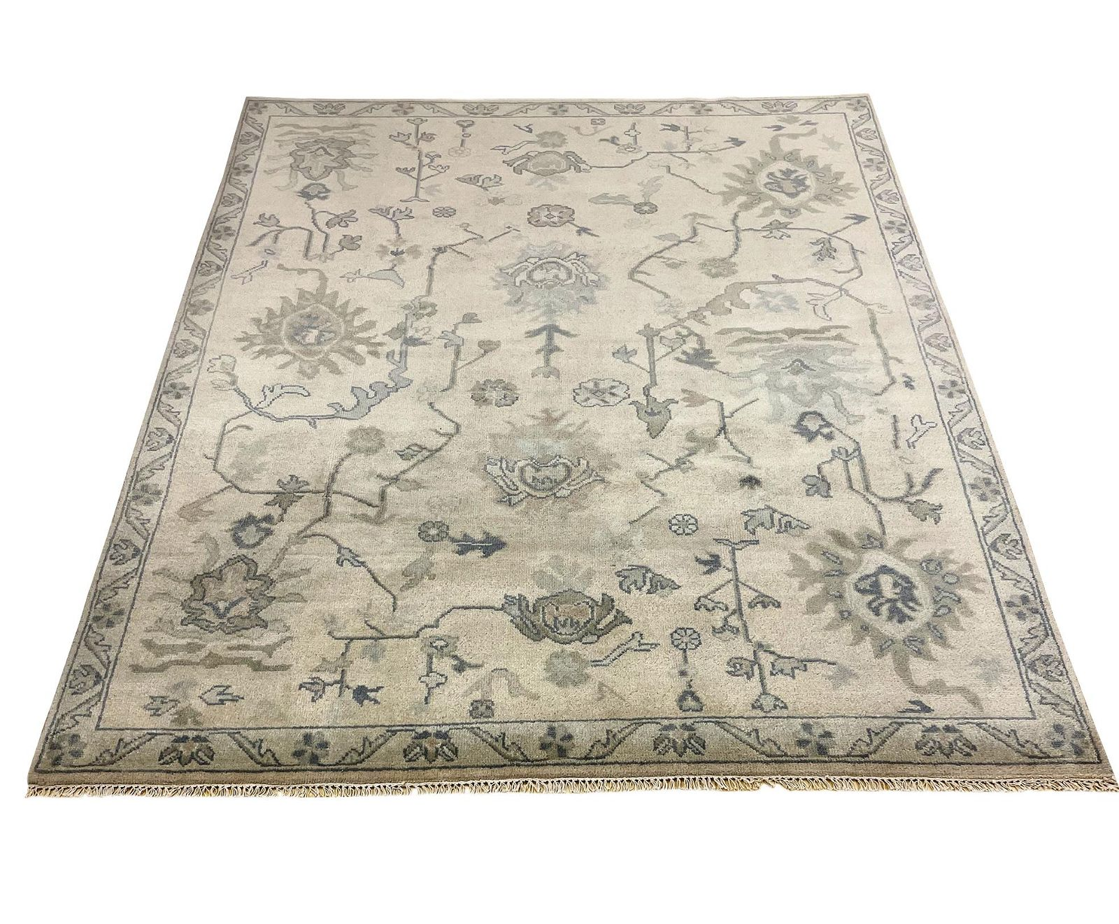 oushak m257 style rug wool pile hand knotted