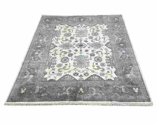 oushak m258 style rug wool pile hand knotted