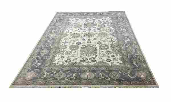 oushak m259 style rug wool pile hand knotted