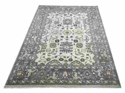 oushak m260 style rug wool pile hand knotted