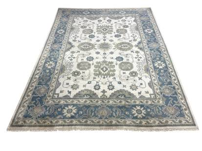 oushak m261 style rug wool pile hand knotted