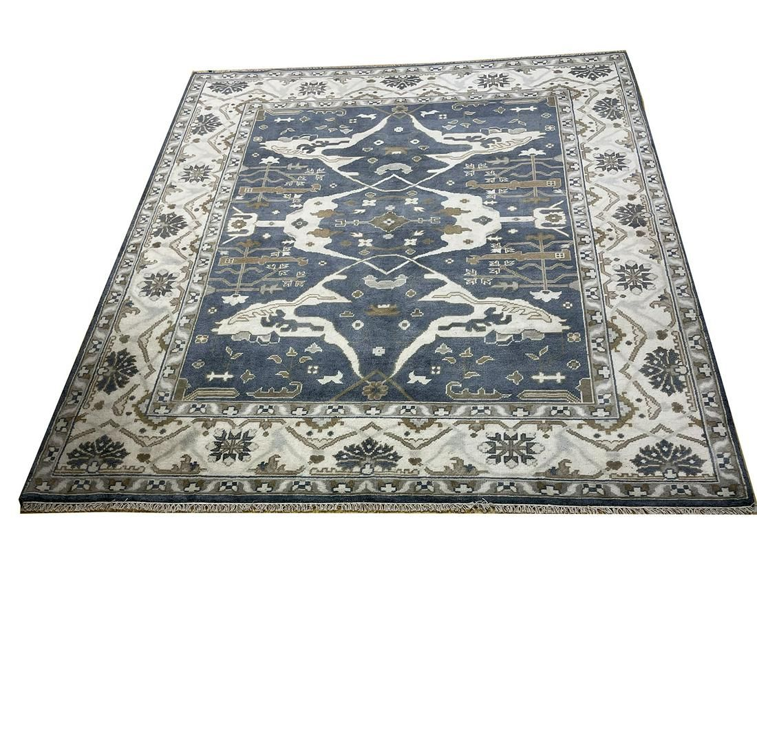 oushak d117 style rug wool pile hand knotted