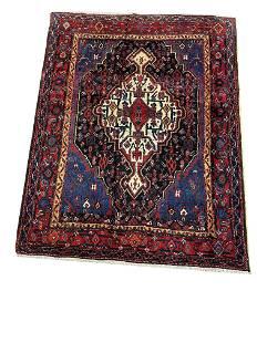 Persian bijar 308 Floral style rug wool pile vintage