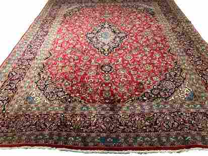 Persian Kashan 77a rugwool pile vintage hand knotted