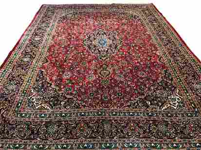 Persian kashan 2529 rugwool pile vintage hand knotted