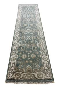 oushak m235 style rug wool pile hand knotted