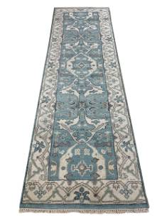 oushak m233 style rug wool pile hand knotted