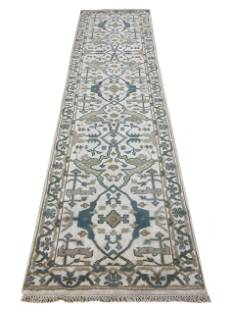 oushak m232 style rug wool pile hand knotted