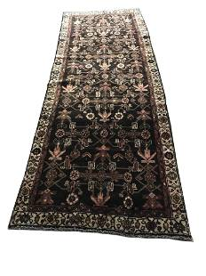 Persian tabriz 794a rug wool pile vintage hand knotted