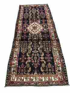 Persian bijar 320 rug wool pile vintage hand knotted in