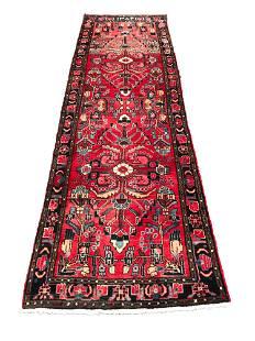 Persian heriz 4013 rug wool pile vintage hand knotted