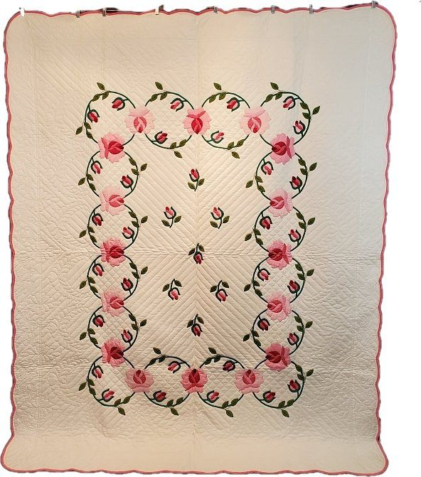 Vintage Quilt Living Roses Kit Quilt by Bucilla