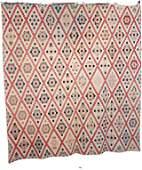 Antique c1850 Field of Diamonds Quilt