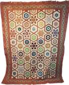 Antique c1880s Hexagon Star Quilt