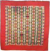 Antique Quilt On Point 4 Patch