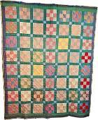 Vintage c1930s 9 Patch Quilt