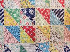 Vintage Feedsack Quilt Backing with Cheater Print