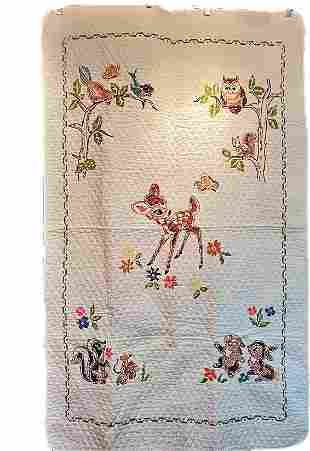 Vintage Bambi Crib Quilt