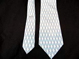 Mens Hermes Silk Tie