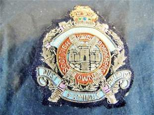 Vintage Scottish Kings Borderers Embroidery Crest