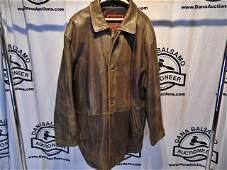 Vintage Mens XL Brown Leather Jacket J Park