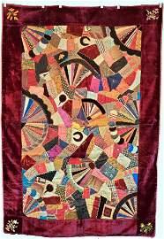 Antique Victorian Silk Crazy Quilt