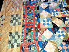 3 Scrappy Vintage c1930s Quilt Tops - 9 and 16 Patches