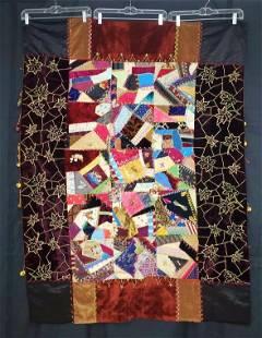 Antique c1880s Crazy Quilt