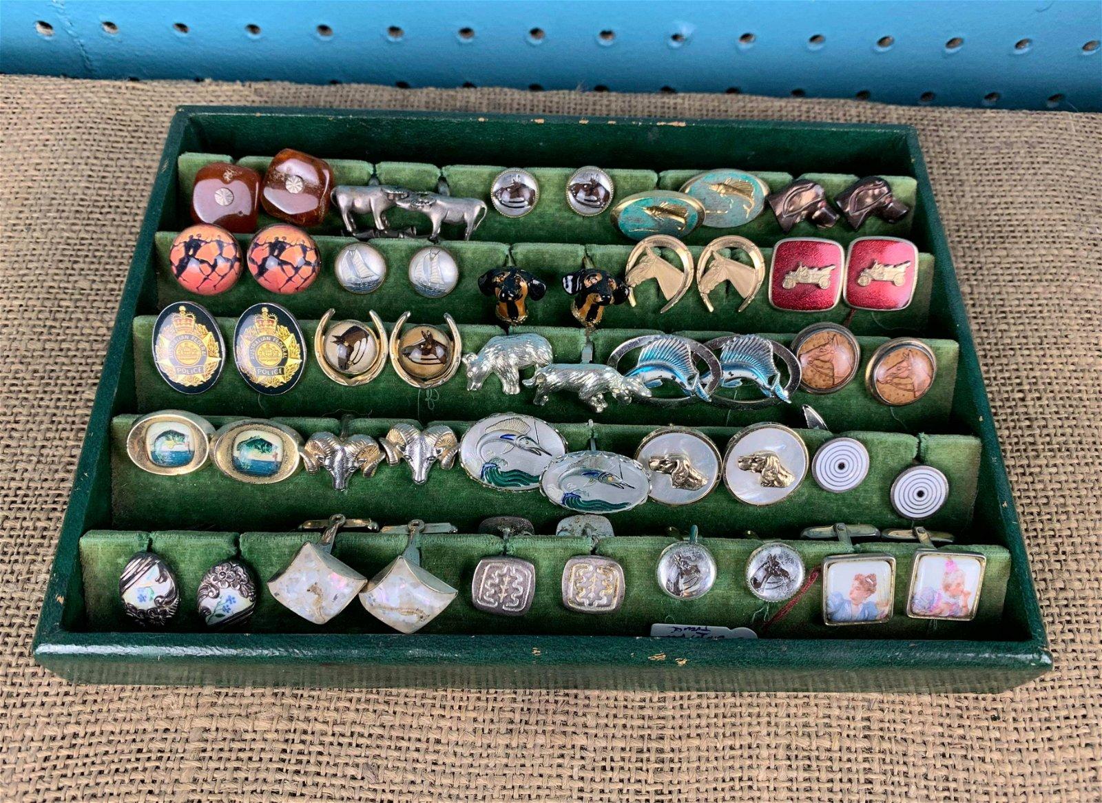 Vintage Cufflink Collection, 25 Pairs