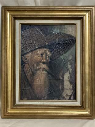 Asian Old Man Painting Artist Maitree