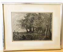 Jean-Baptiste-Camille Corot 1875 Etching