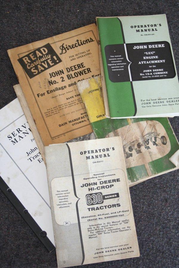 34: John Deere Operators and Service Manuals