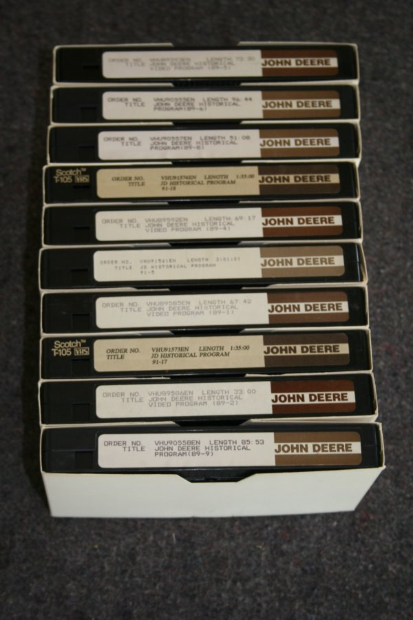 52: John Deere VHS tapes
