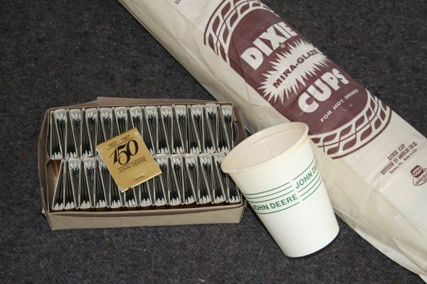 53: John Deere Matches and Dixie Cups