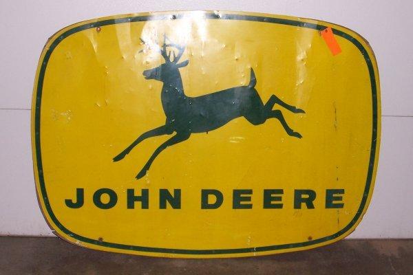 4729: John Deere 4 Legged Oval Sign