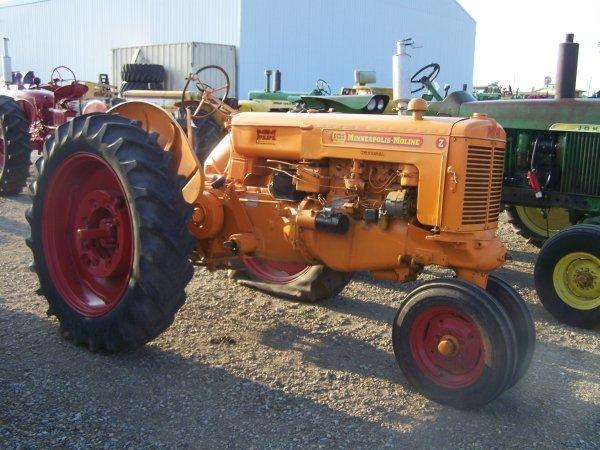 10: Minneapolis Moline Z Narrow Front Antique Tractor