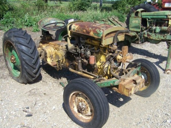 56: Oliver S55 Industrial Antique Parts Tractor