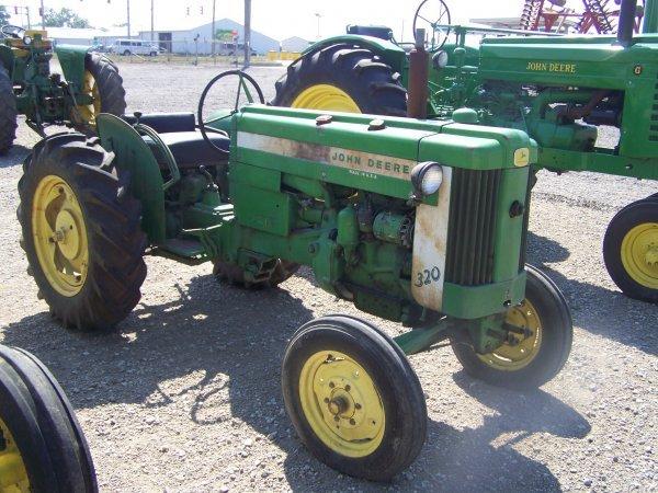 43: John Deere 320 Wide Front Antique Farm Tractor