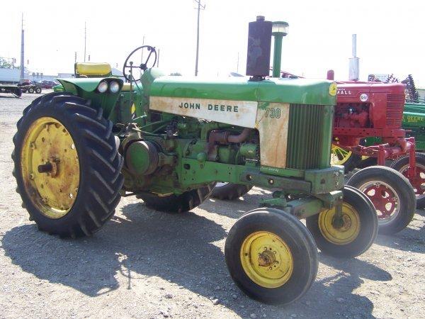 45: John Deere 730 Wide Front Antique Farm Tractor