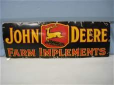 19671: Black John Deere Farm ImplementSign