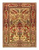 """Antique Persian Isfahan, Size 4'8"""" x 6'6"""""""