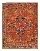 "Antique Persian Heriz, Size 9' x 11'8"""