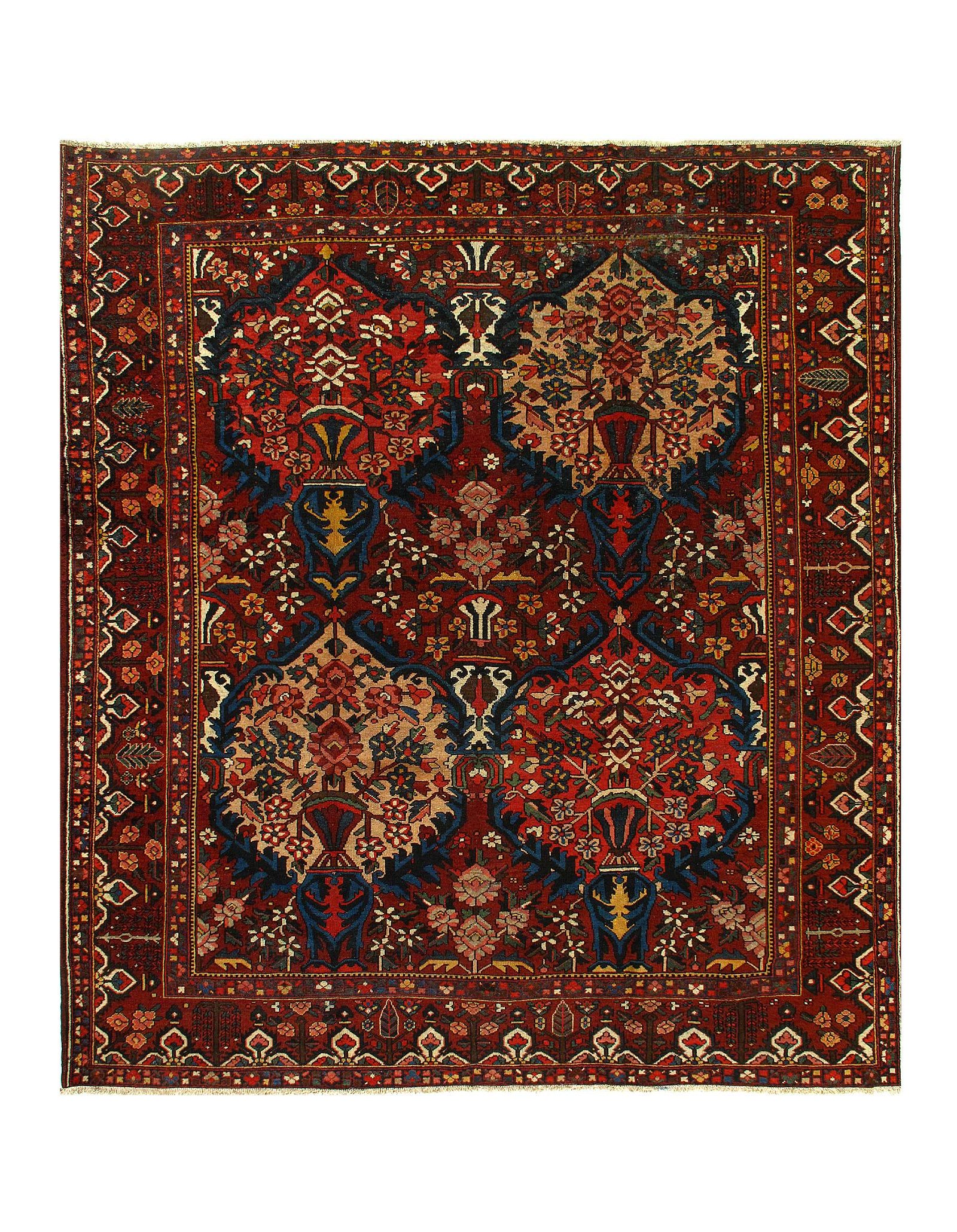 "Persian Semi-Antique Bakhtiari 10'6"" X 11'11"""