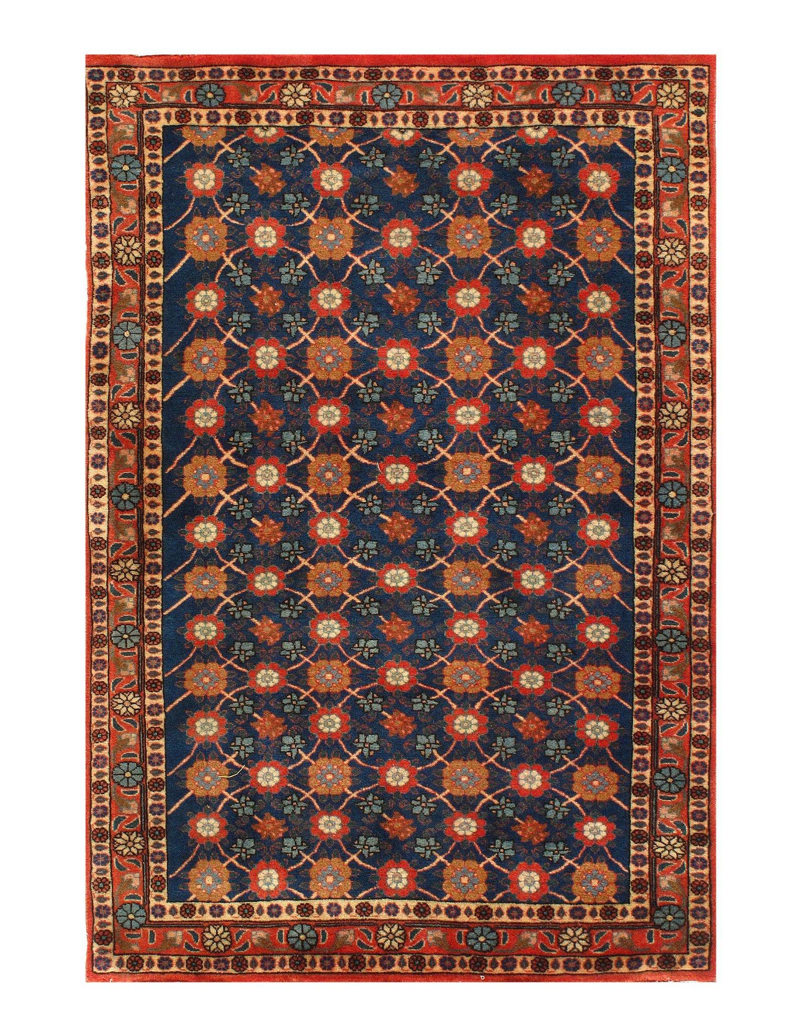 """Semi-Antique Persian Varamin 3' X 4'7"""""""