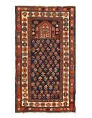 Navy Blue Antique Caucasian kazak rug 2'11'' X 5'4''