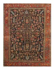 "Antique Persian Serapi, Size 8'4"" X 11'"