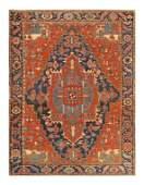 "Antique Persian Serapi, Size 9'6"" X 11'7"""